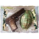 Подарочный набор Мыло Пистолет и Граната