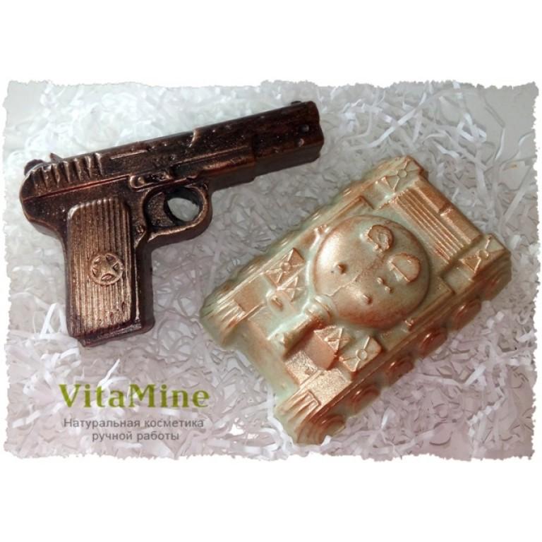 Мыльный набор Пистолет и Танк