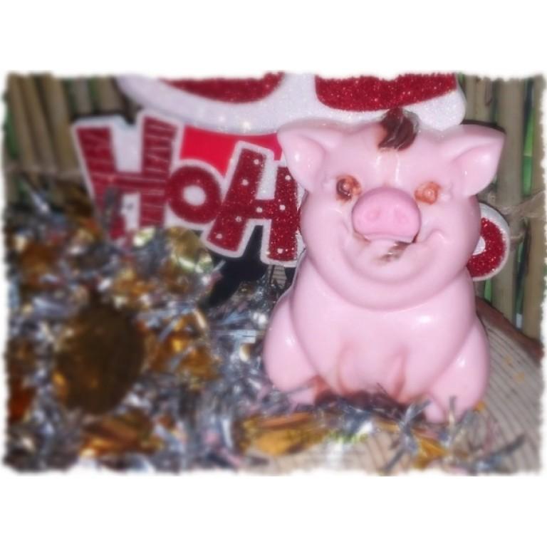 Мыльная новогодняя свинка 3