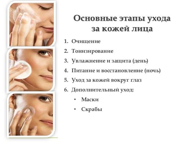 Как ухаживать за коже лица в домашних условиях